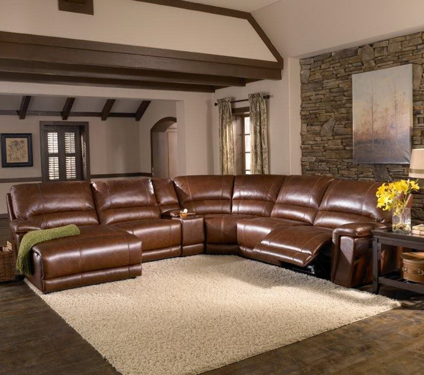 Reclining Leather Sofa Sectional