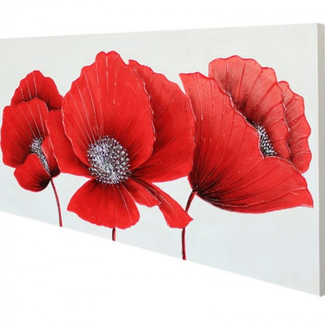 Red Floral Wall Art