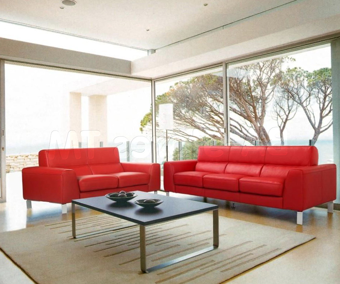 Red Sofa And Loveseat Set