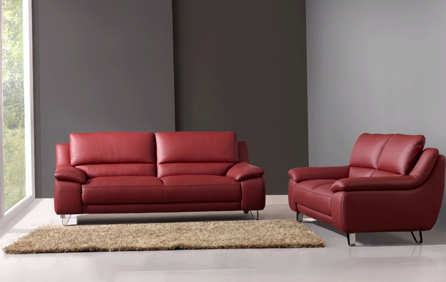 Red Sofas And Loveseats