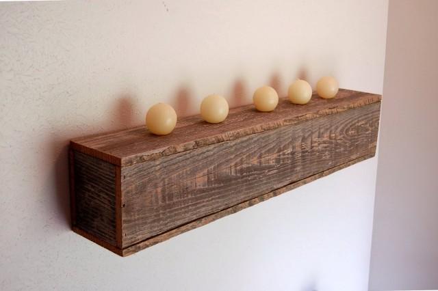 Rustic Kitchen Wall Shelf