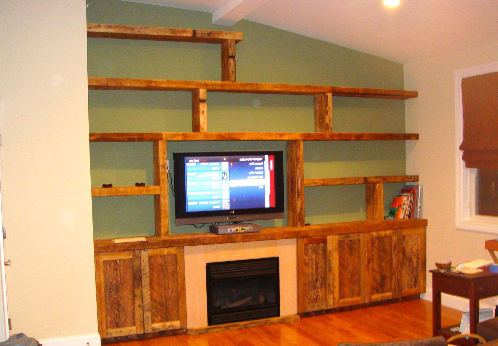 Rustic Wall Shelf Unit