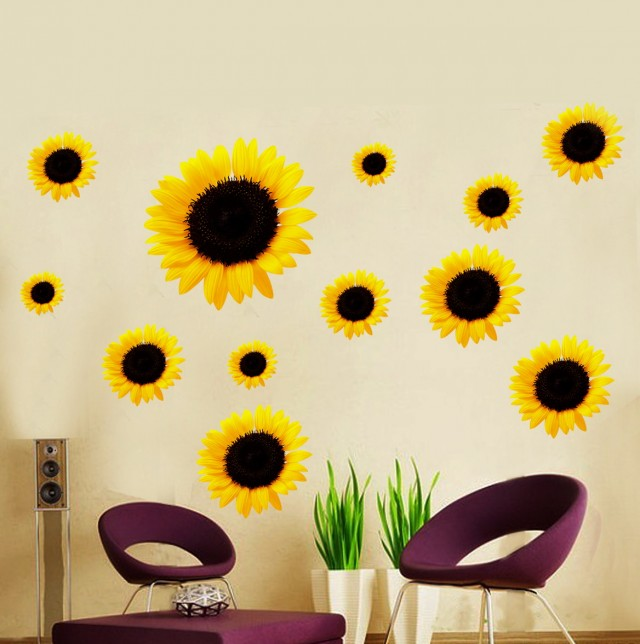 Sunflower Wall Art Decals