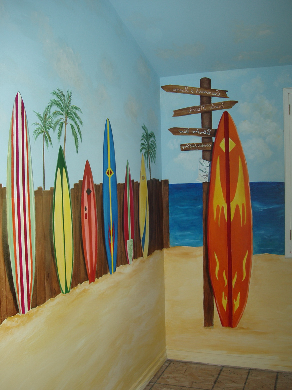 Surfboard Wall Art For Kids