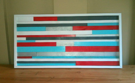 Teal And Red Wall Art