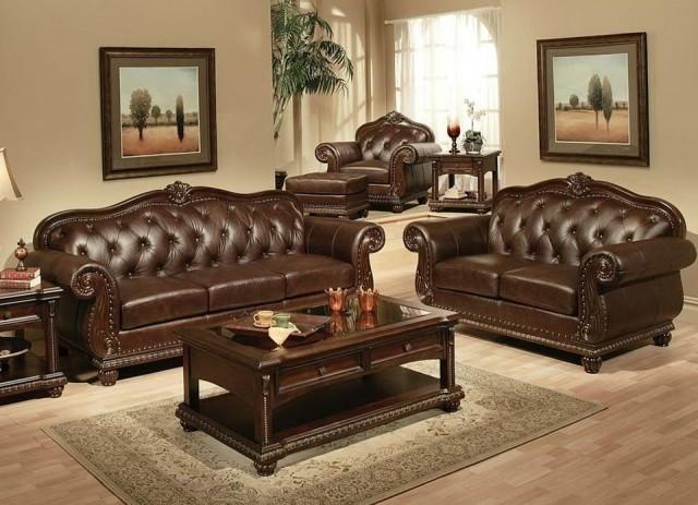 Top Grain Leather Sofa Set