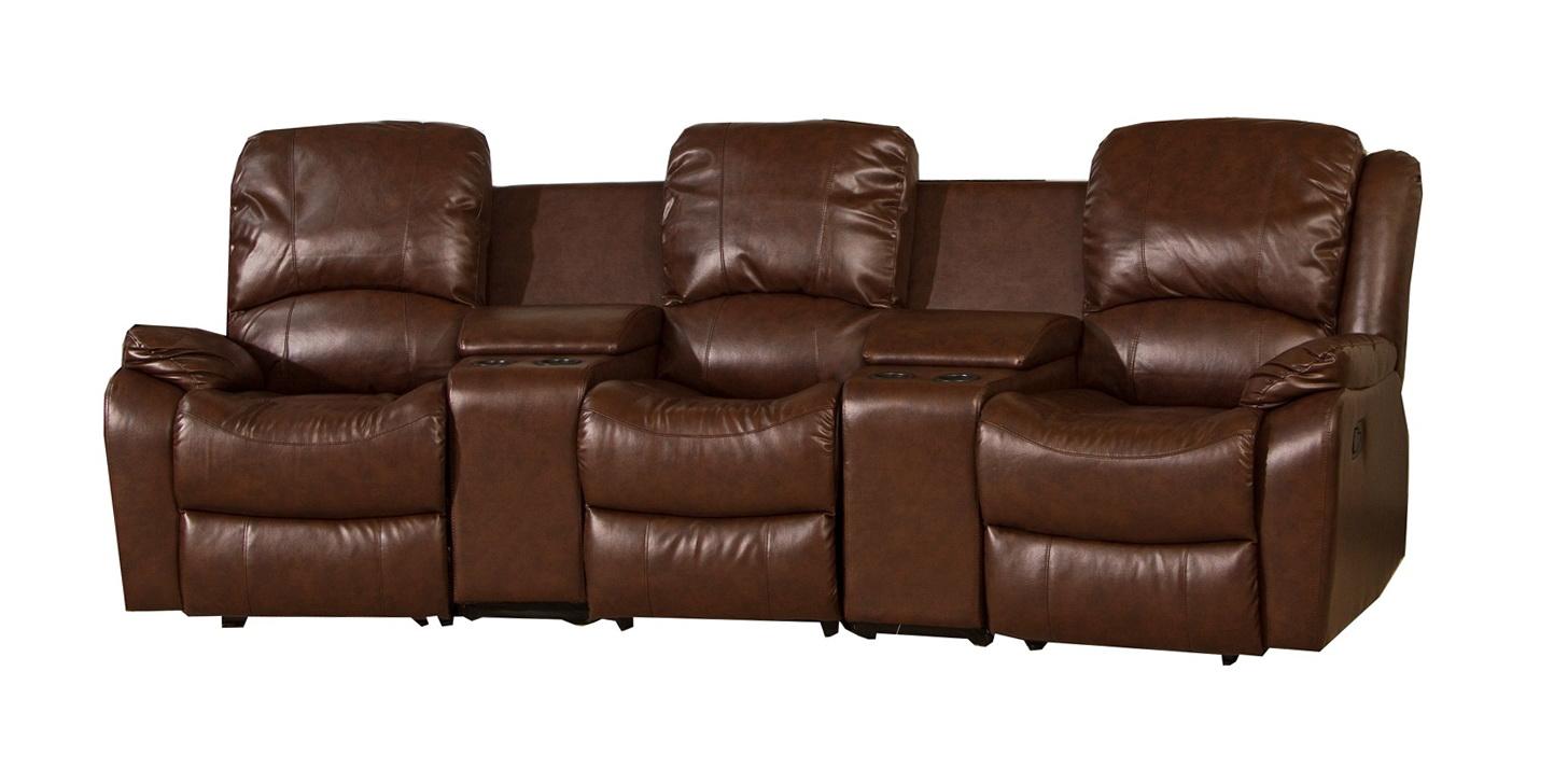 Triple Reclining Leather Sofa