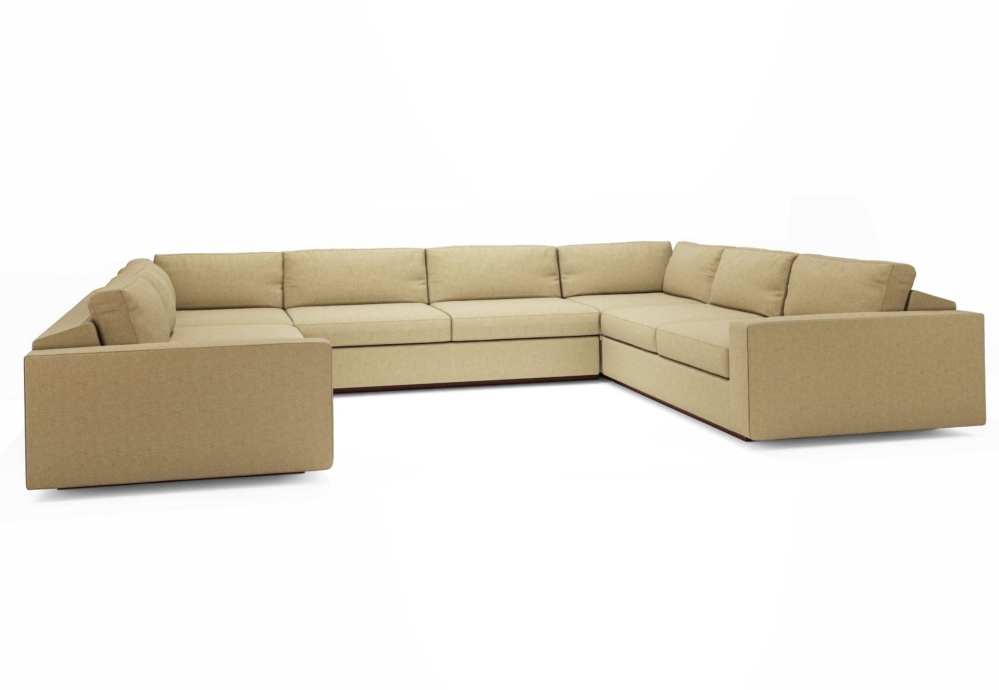 U Shaped Sectional Sofas With Chaise