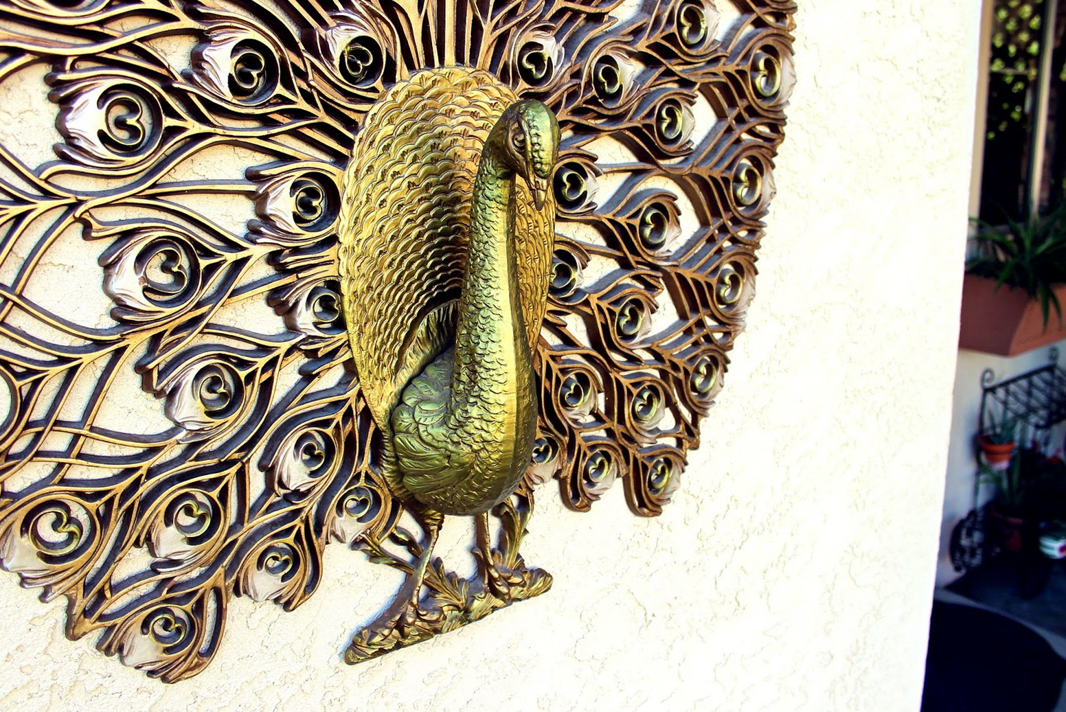 Vintage Peacock Wall Art
