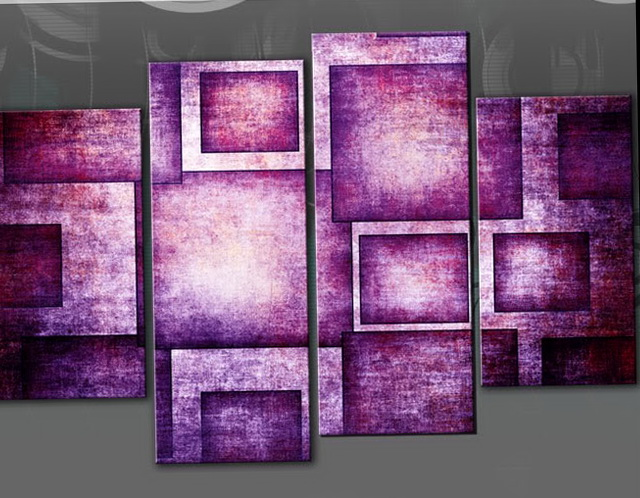 Wall Art Canvas Purple