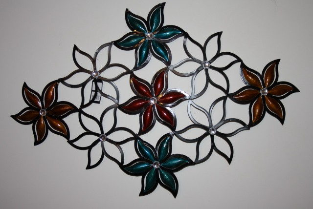 Wall Art Metal Flowers