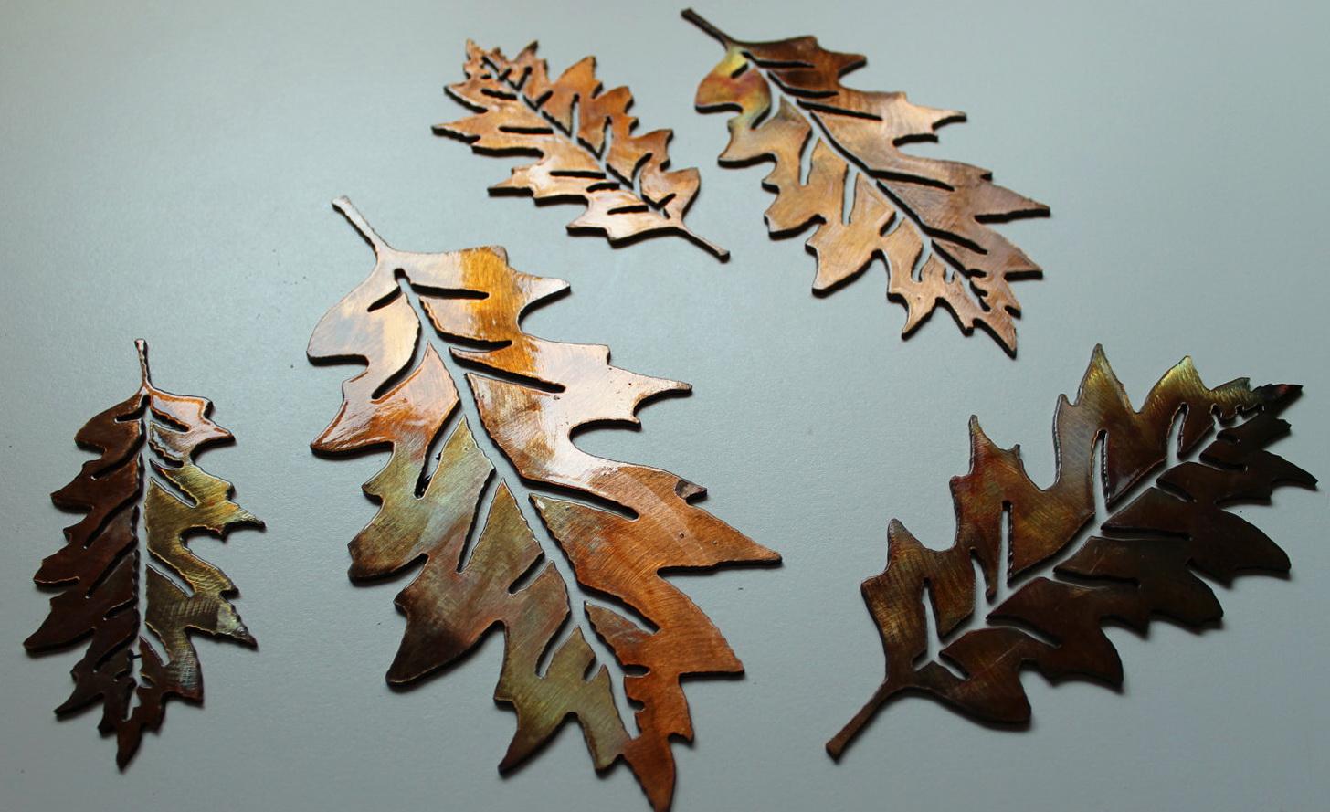Wall Art Metal Leaves