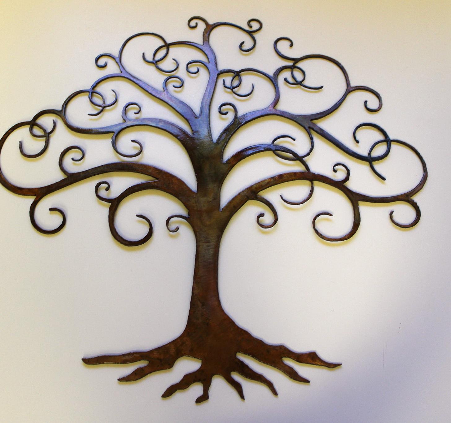 Wall Art Metal Tree