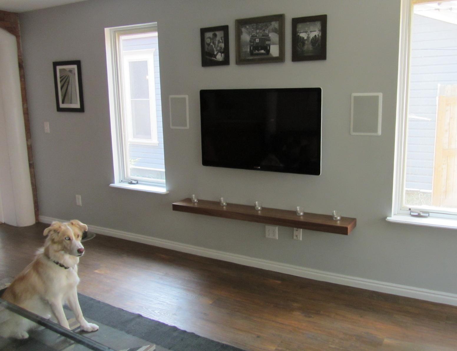 Wall mount tv shelf ideas