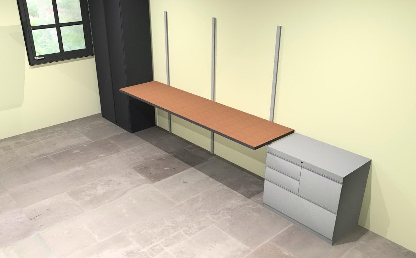 Wall Mounted Shelf System