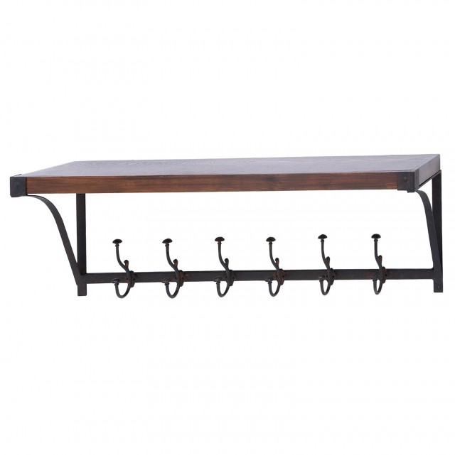 Wall Mounted Shelf With Hooks