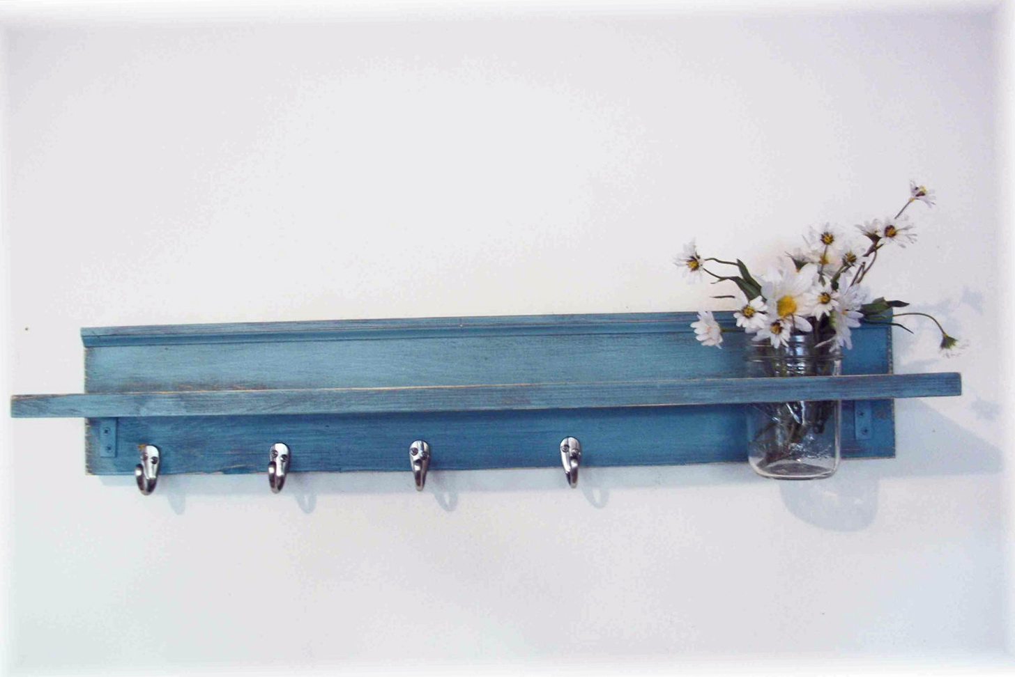 Wall Shelf With Hooks Kitchen