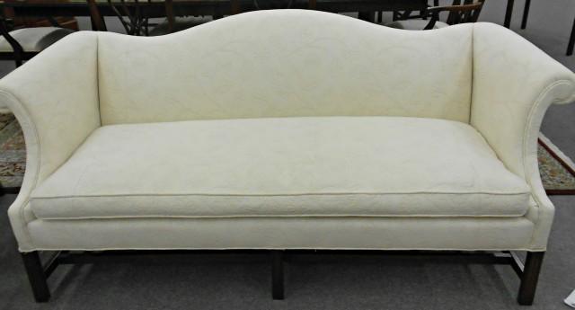 White Camel Back Sofa