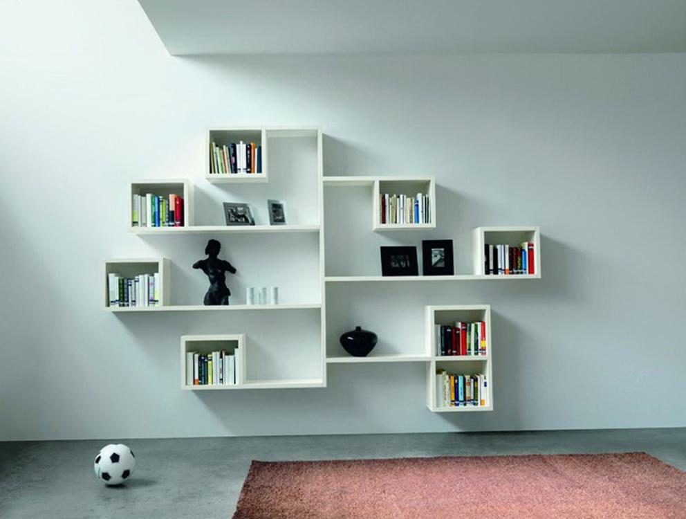 White Decorative Wall Shelf