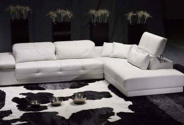 White Sectional Sofa Leather