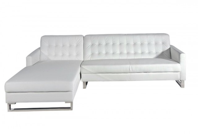 White Sectional Sofa With Chaise