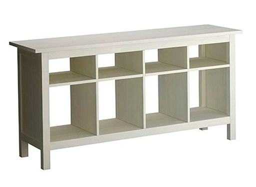 White Sofa Table With Storage