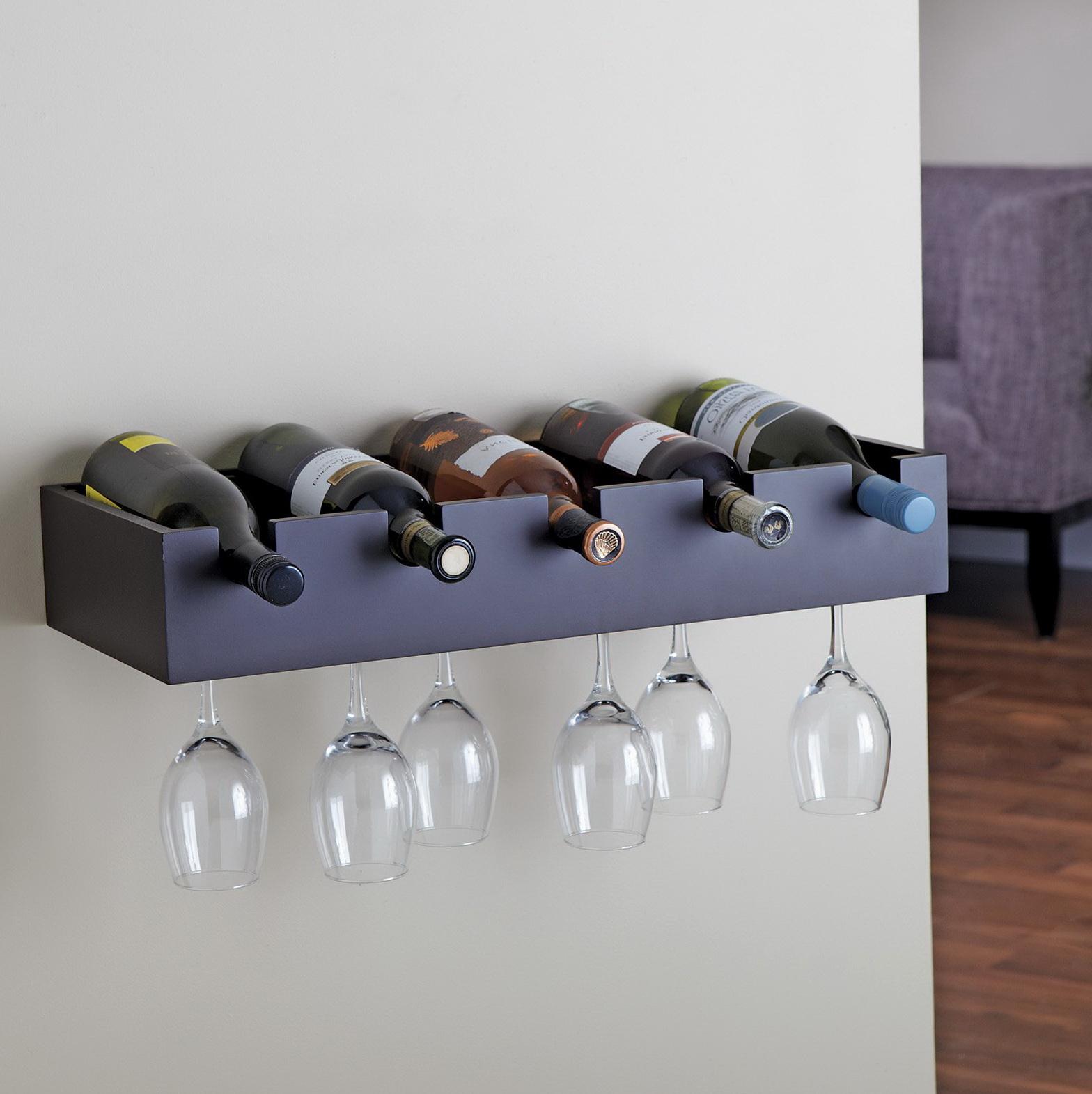 Wine Glass Wall Shelf