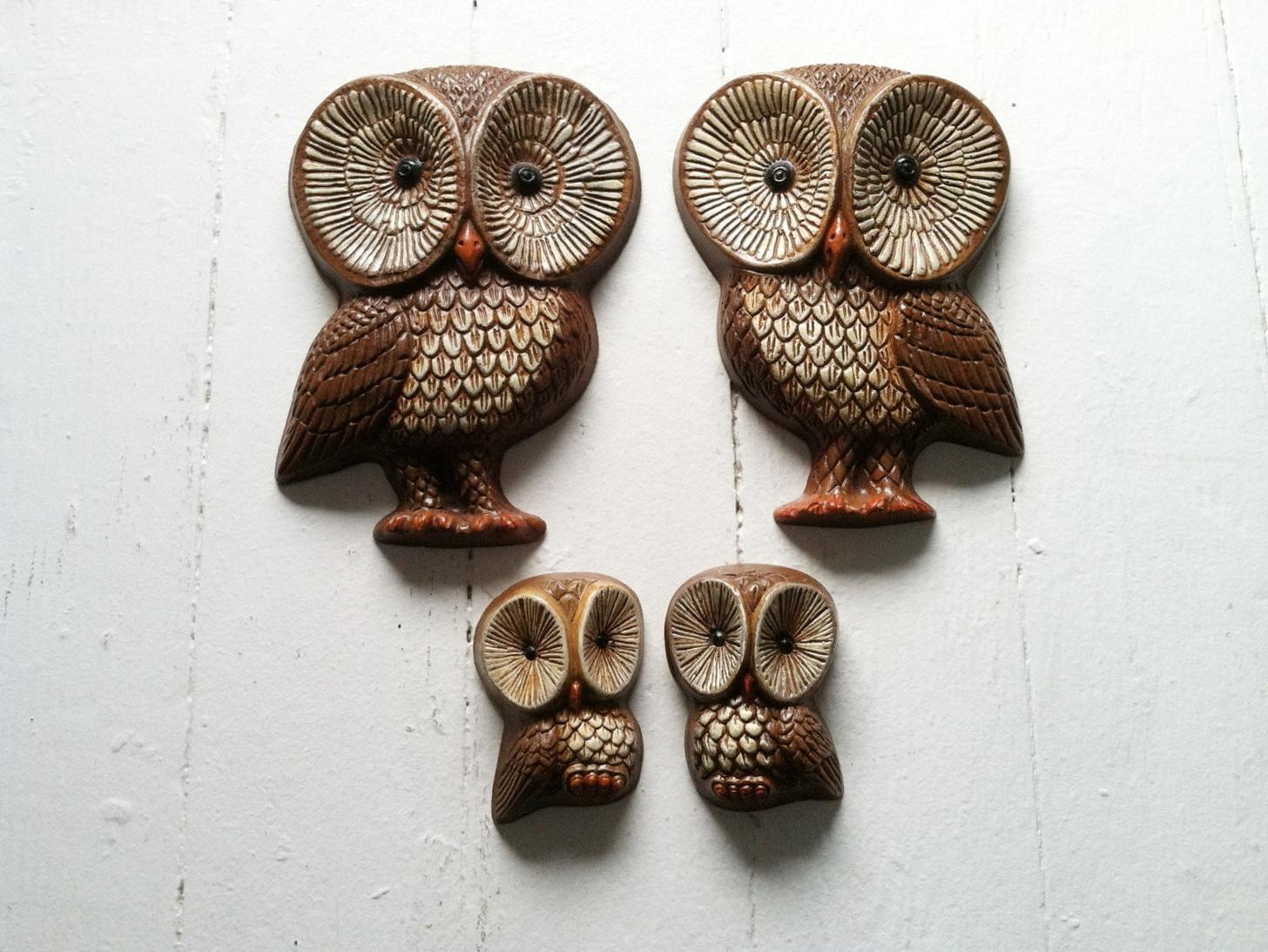 Wood Owl Wall Art