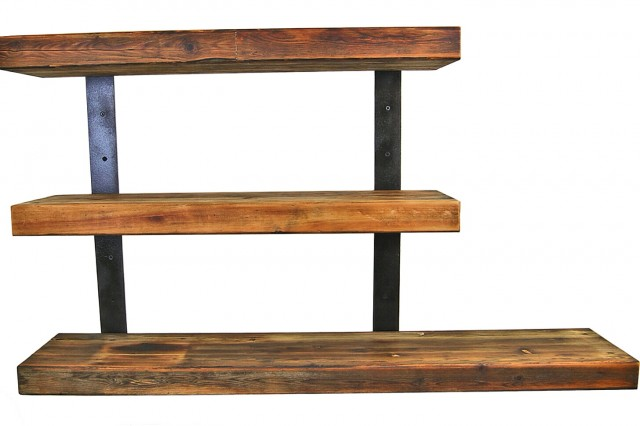 Wooden Wall Shelf Unit