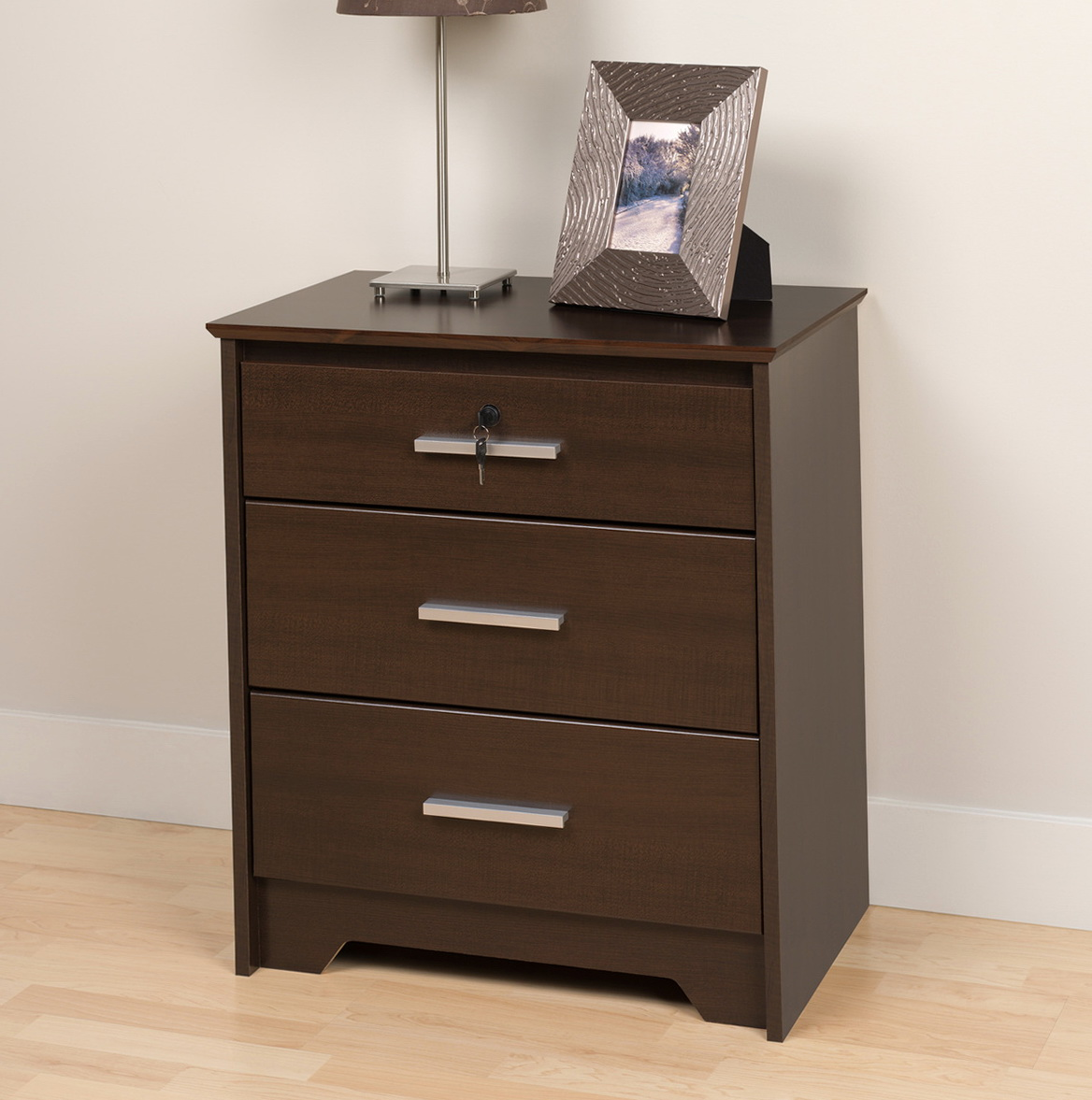 3 Drawer Nightstand Espresso