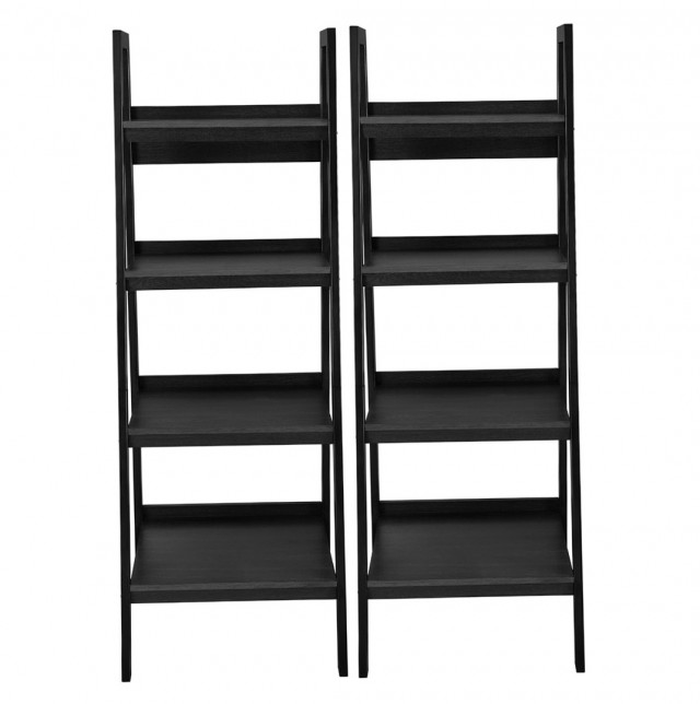 4 Shelf Bookcase Black