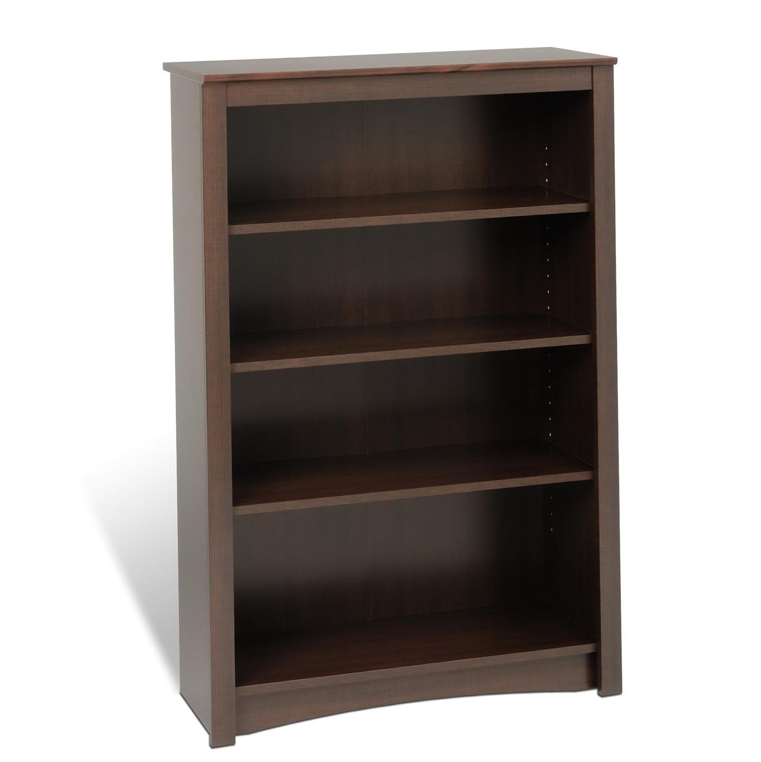 4 Shelf Bookcase Espresso
