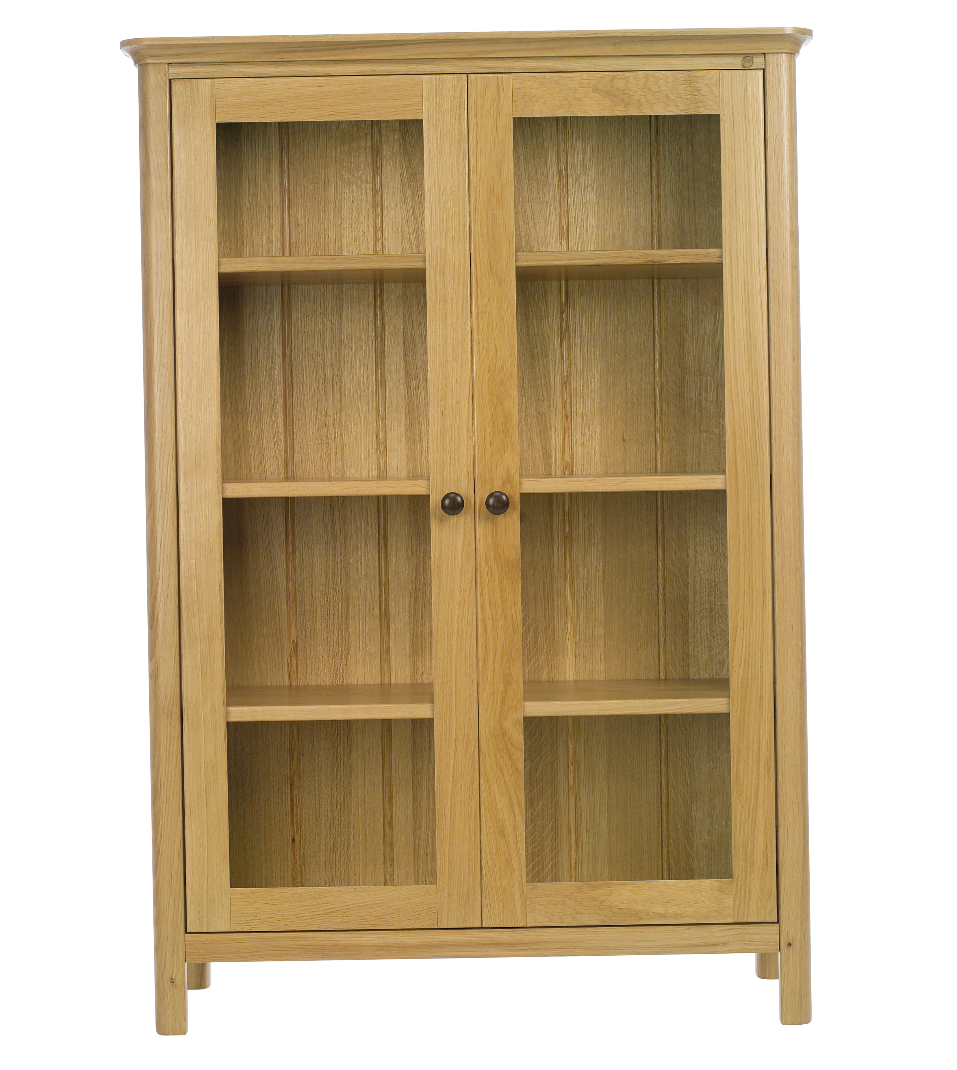 4 Shelf Bookcase With Glass Doors