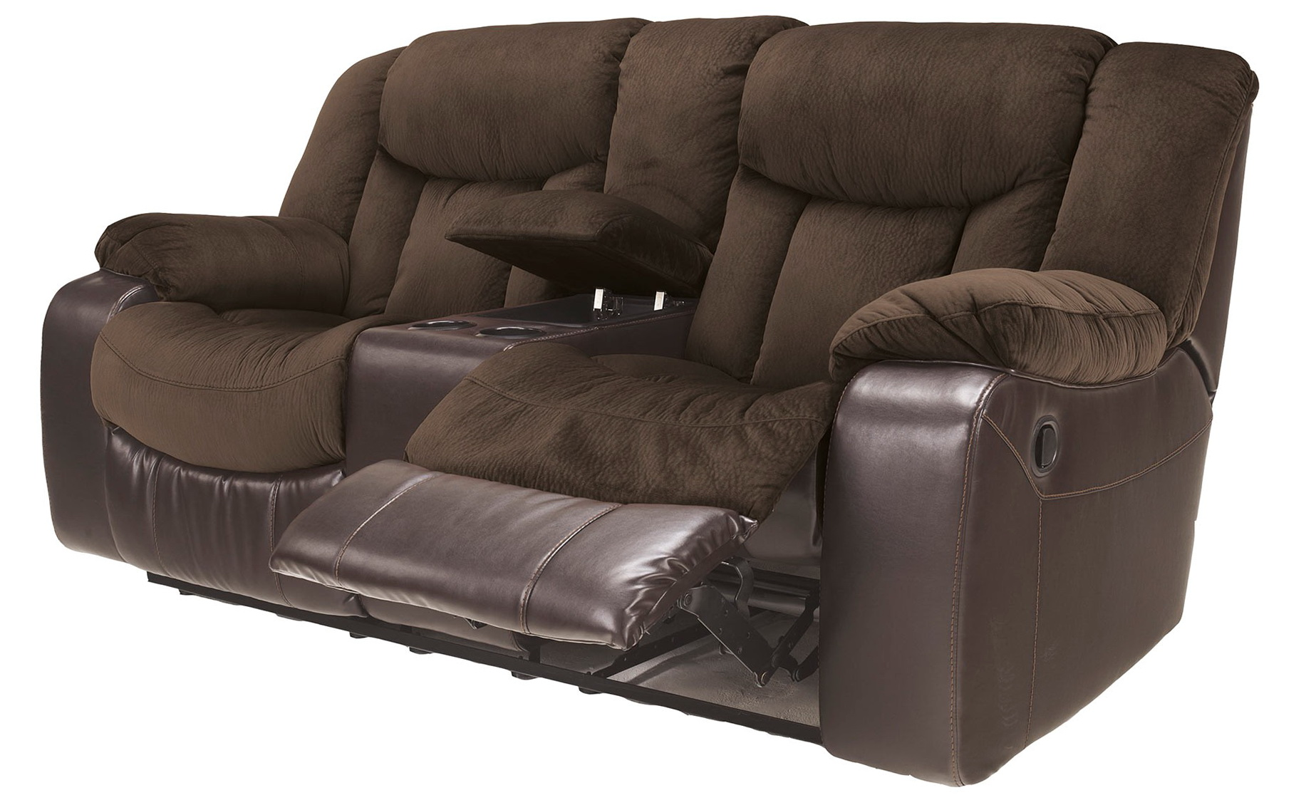 Ashley Reclining Loveseat With Console