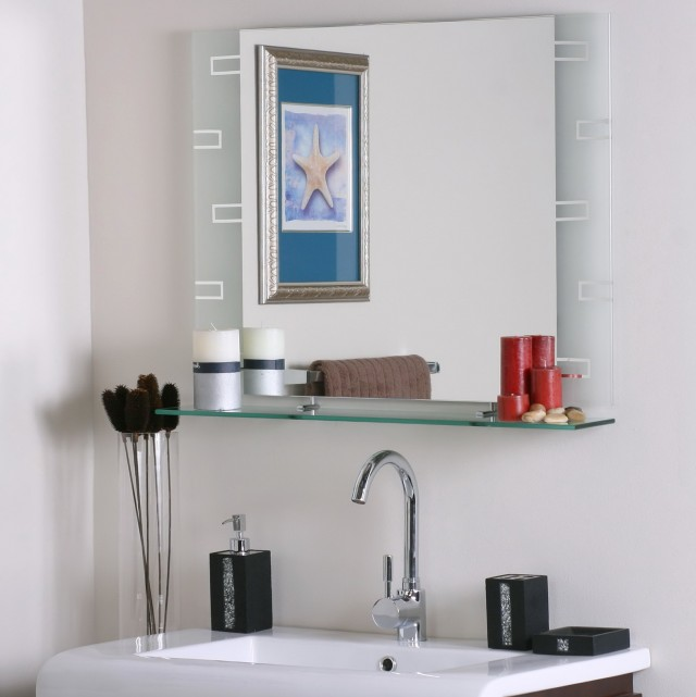 Bathroom Wall Mirror With Shelf