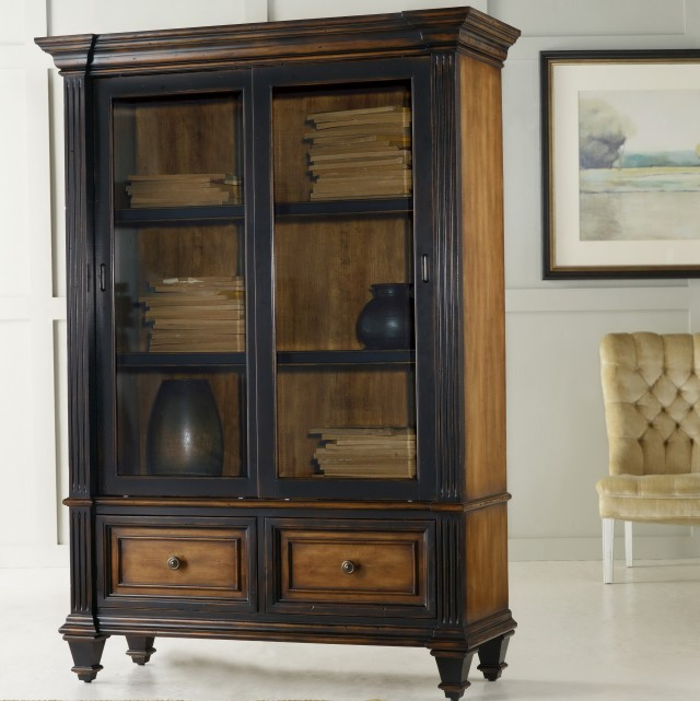Black Bookcases With Doors