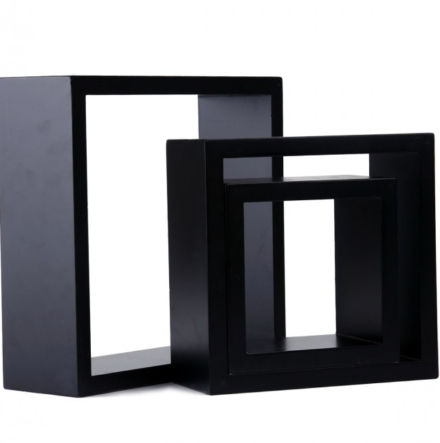 Black Cube Wall Shelves