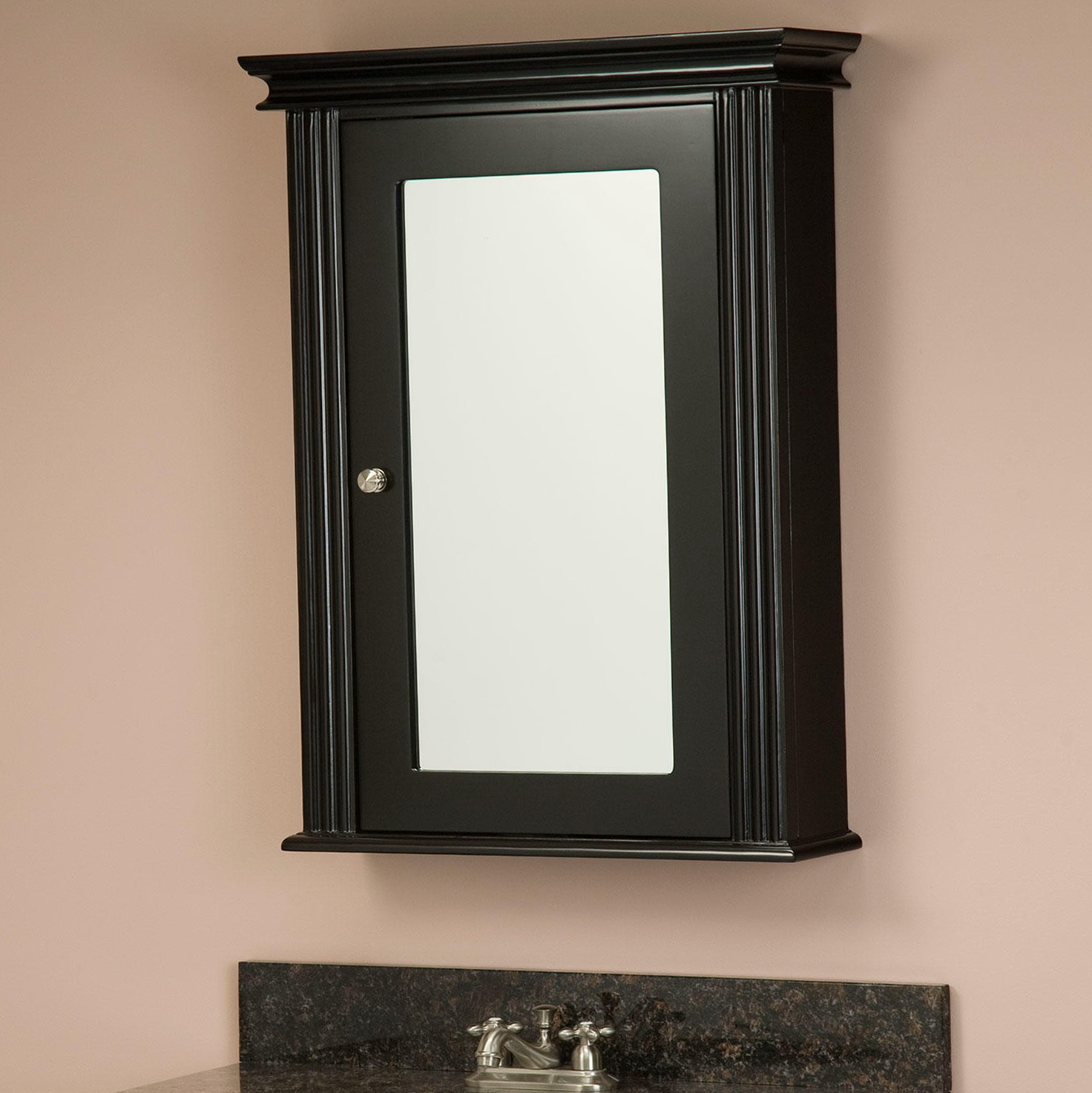 Black Medicine Cabinet With Mirror