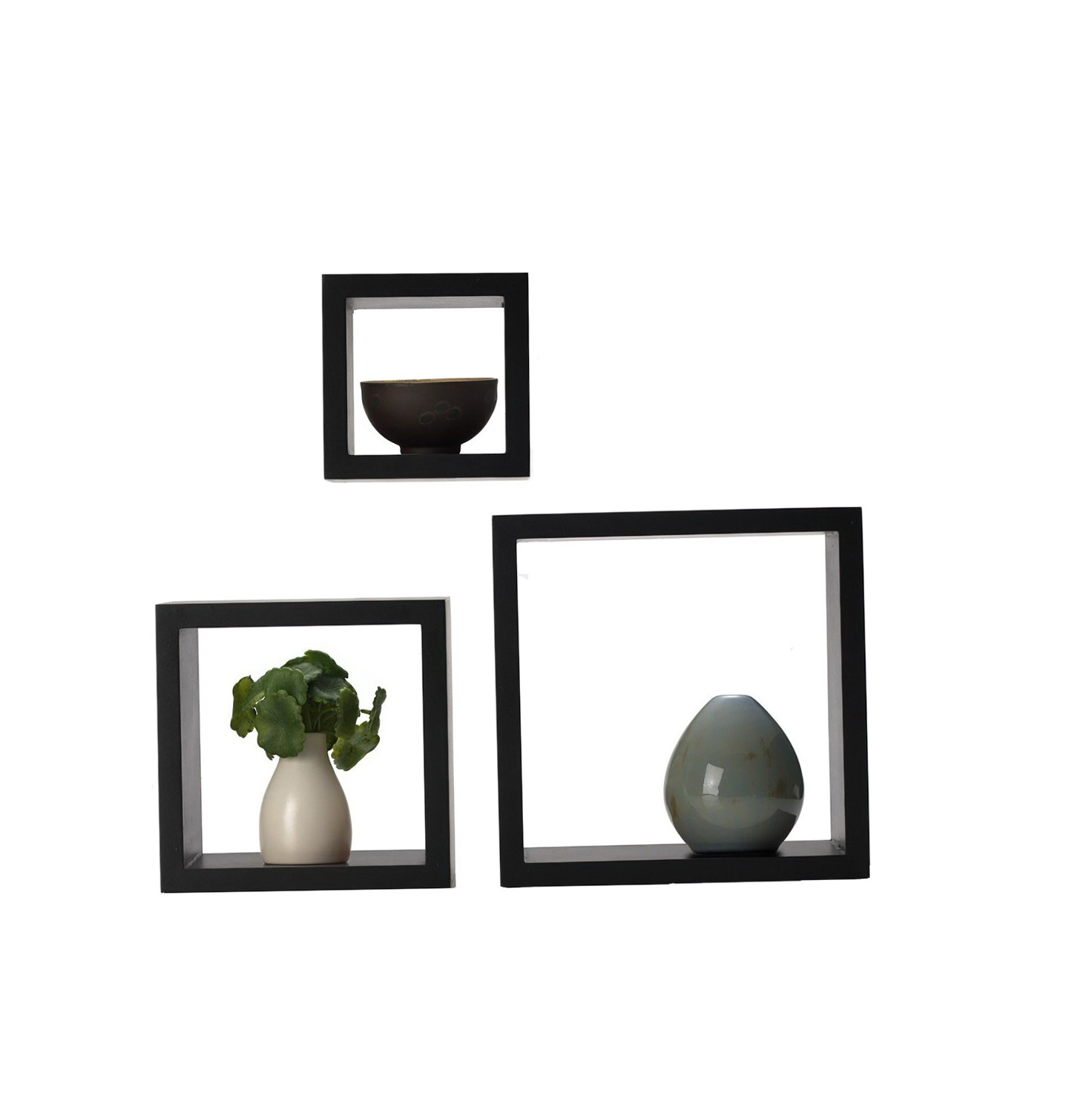 Black Square Wall Shelves