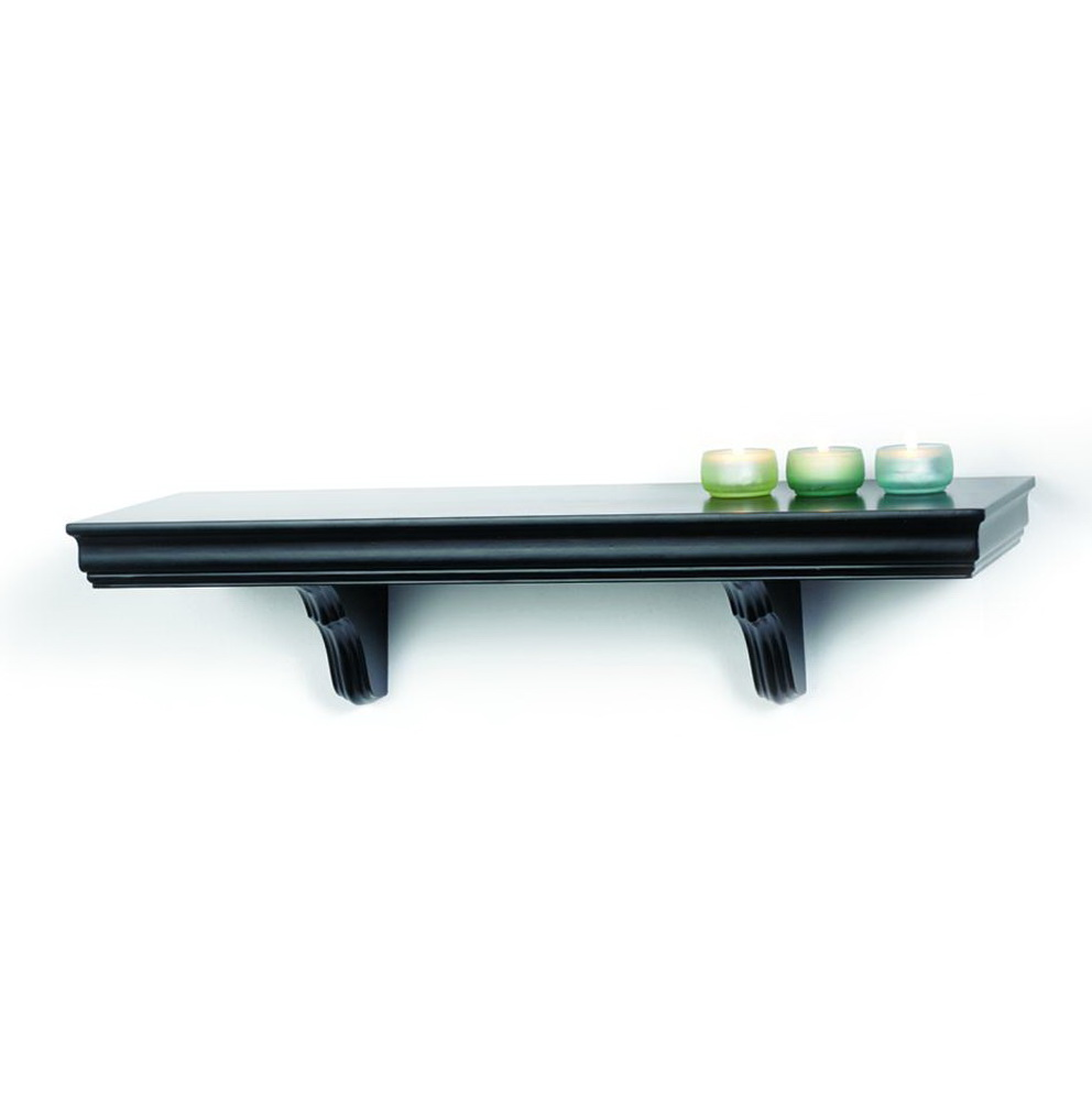 Black Wall Shelves With Brackets