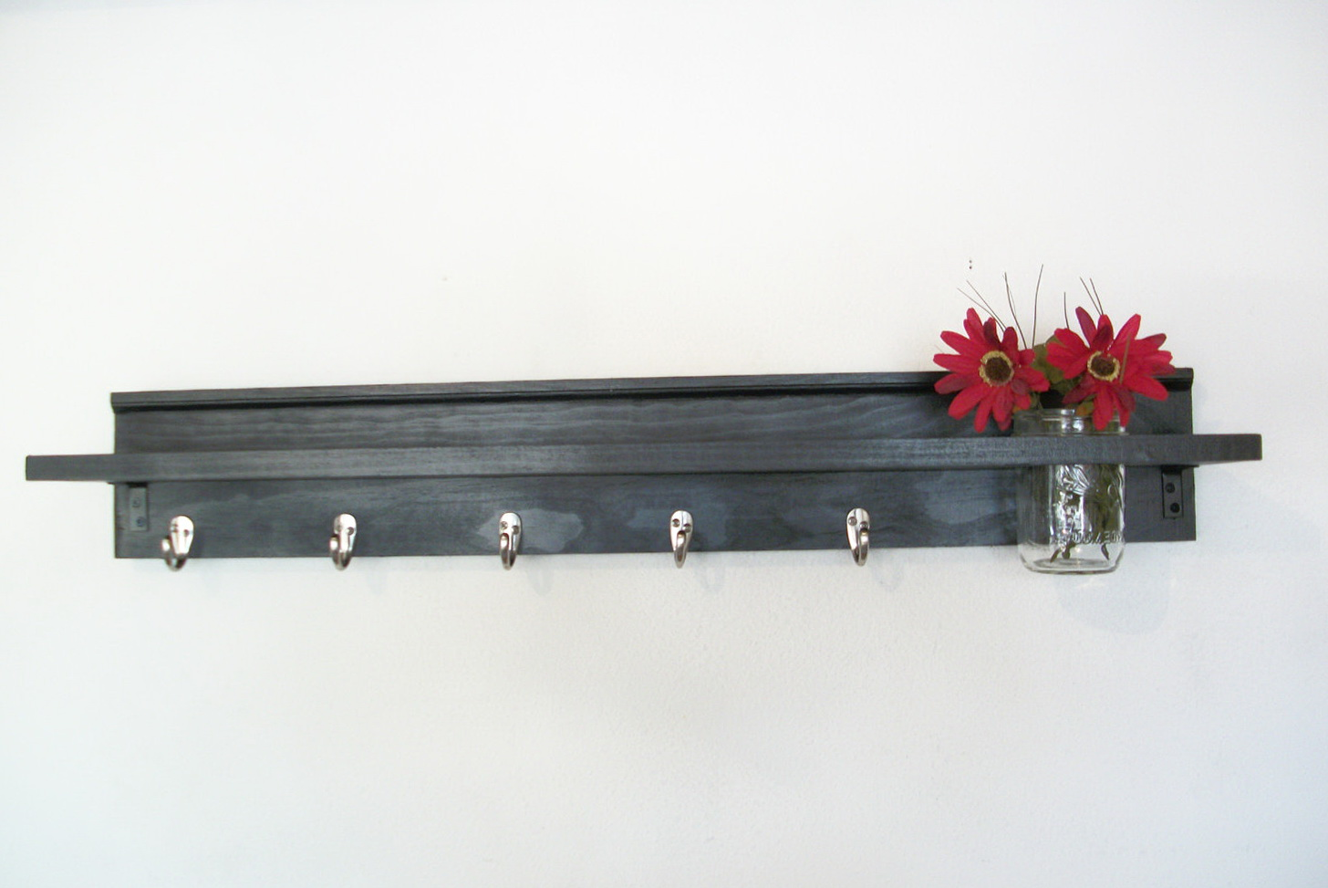 Black Wall Shelves With Hooks