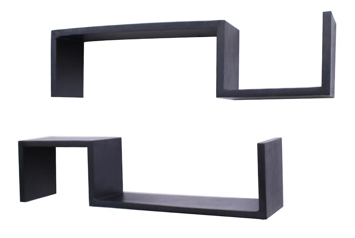 Black Wall Shelves Wood