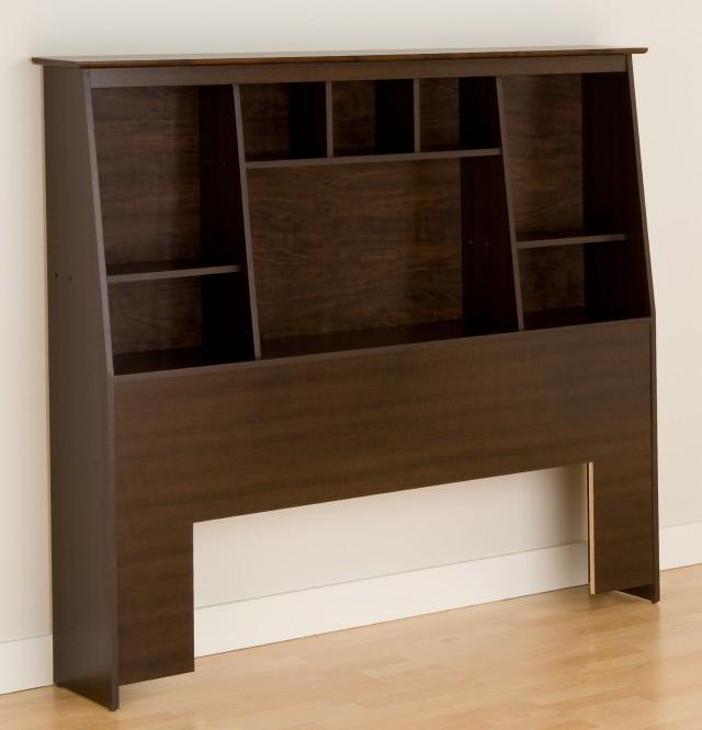 Bookcase Headboard Queen Bed