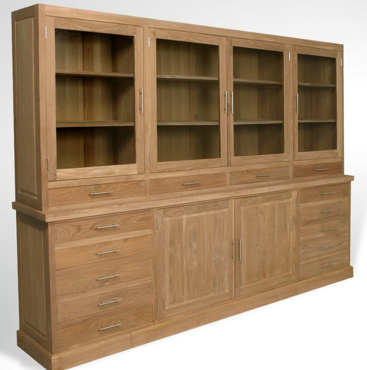 Bookcase With Glass Doors And Drawers