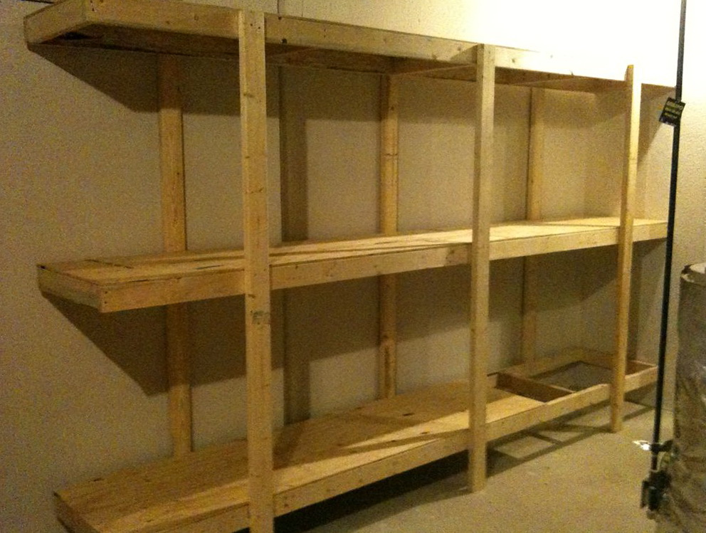 Building Garage Wall Shelves