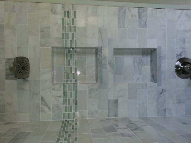 Built In Bathroom Wall Shelves
