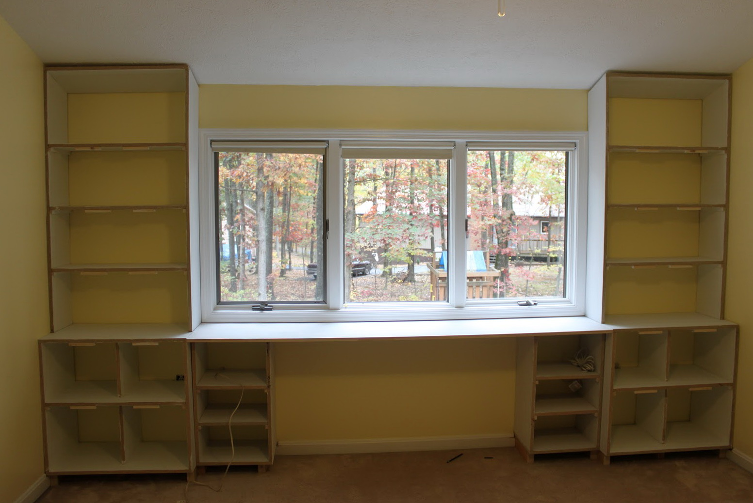 Built In Bookcase With Desk