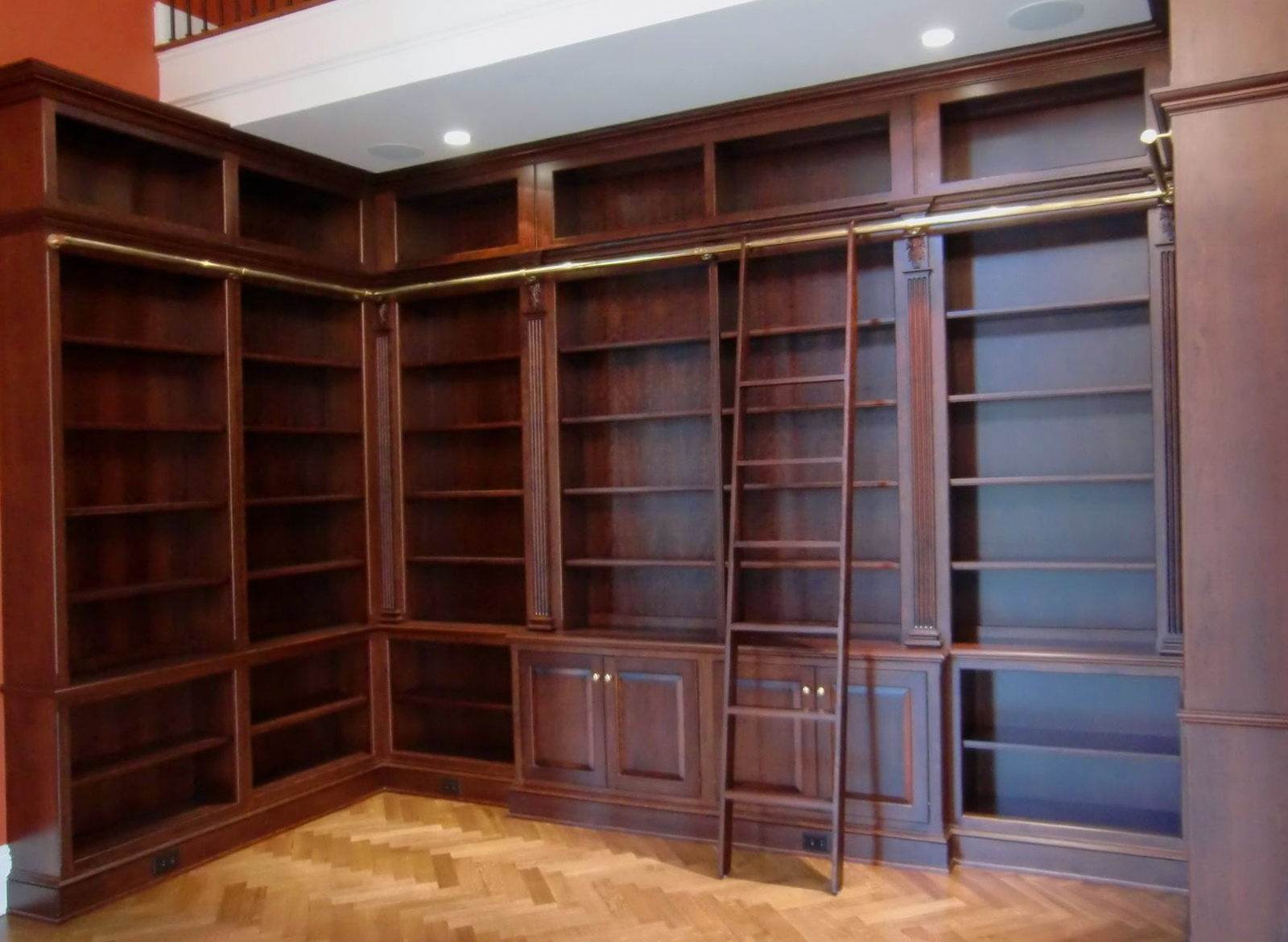 Built In Bookcase With Ladder