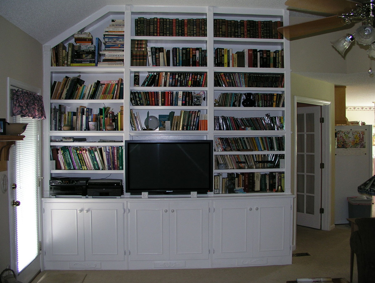 Built In Bookcase With Tv