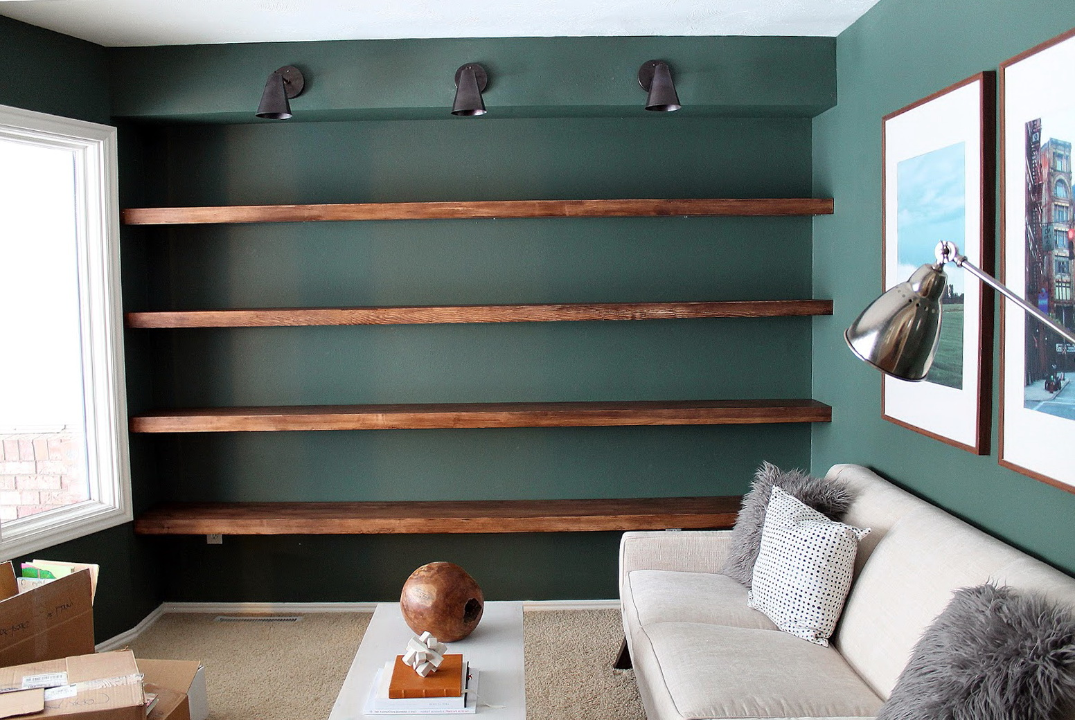 Built In Wall Shelves Diy